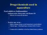 Drugs/chemicals used in aquaculture