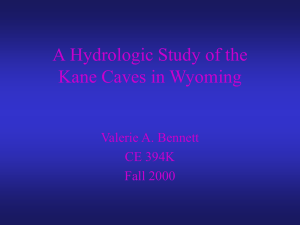 A GIS Based Hydrologic Study of the Kane Caves in Wyoming