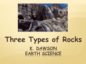 Types of Rocks - Moore Middle School