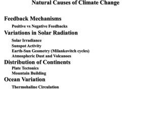 Natural Causes of Climate Change
