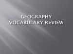 Geography Vocabulary Review - Pattonville Heights Middle