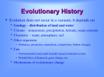 Evolutionary History - Western Washington University