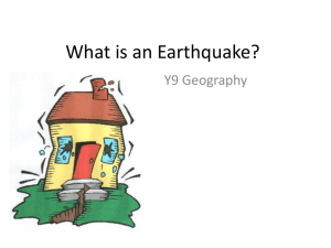 What is an Earthquake? - Live it, breathe it, love GEOGRAPHY