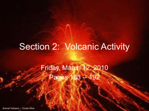 Section 2: Volcanic Activity - SS. Peter and Paul Salesian