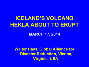 ICELAND`S VOLCANO HEKLA ABOUT TO ERUPT