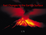 Fast Changes to the Earth`s Surface