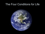 The Four Conditions for Life