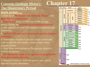 Chapter 17 - Cenozoic - Quaternary