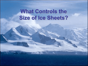 Insolation Control of Ice Sheets