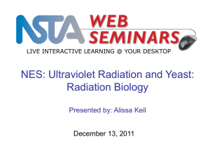 Ultraviolet Radiation and Yeast - NSTA Learning Center