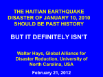 the haitian earthquake disaster of january 10, 2010 should be past