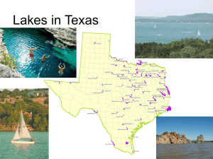 Lakes in Texas – Why so many, why none at all?