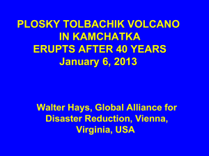 plosky tolbachik volcano in kamchatka erupts after 40 years