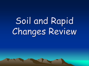 Soil and Rapid Changes Review
