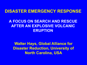 DISASTER EMERGENCY RESPONSE. Part VI.