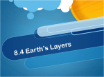8.4 Earth`s Layers