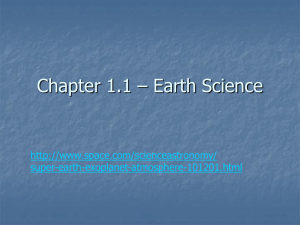 Chapter 1.1 – Earth Science