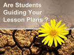 Are Students Guiding Your Lesson Plans