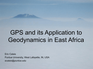 GPS and its Application to Geodynamics in East Africa