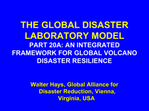 an integrated framework for global volcano disaster resilience
