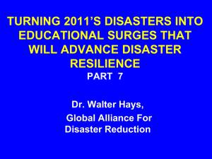 TURNING 2011`S DISASTERS INTO EDUCATIONAL SURGES