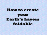 How to create your Earth`s Layers foldable