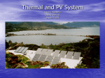 Thermal and PV System Lauren Masseria Jenny Bishop Bryan Picard