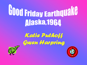 Good Friday Earthquake Katie Puthoff and Gwen Harpring