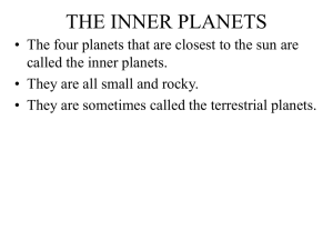 the inner planets - Horace Mann Webmail