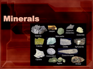 Minerals - PAMS-Doyle