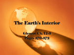 Earth`s Interior Introduction