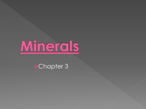 Minerals - Ms. Banjavcic`s Science
