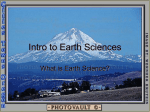 Intro to Earth Sciences