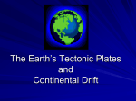 The Earth`s Tectonic Plates and Continental Drift