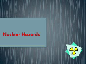 Nuclear Hazards - SNS Courseware