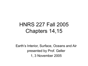 HNRS 227 Lecture #17 & 18 Chapters 12 and 13