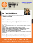 Dr. Cynthia Ebinger Department of Earth and Environmental Sciences University of Rochester