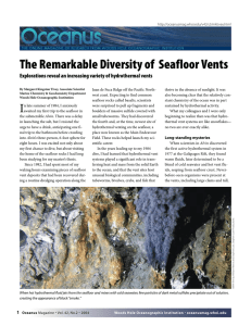 The Remarkable Diversity of  Seafloor Vents