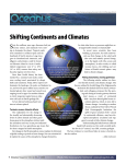 Shifting Continents and Climates S