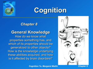 Matlin, Cognition, 7e, Chapter 8: General Knowledge