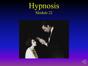 Module 22: Hypnosis and Meditation