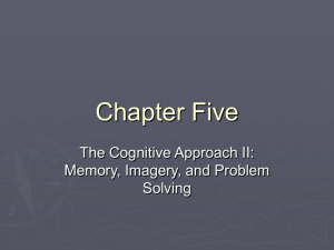 Chap 5: The Cognitive Approach II