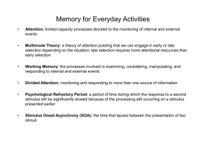 Memory for Everyday Activities