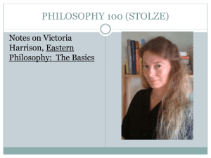 PHILOSOPHY 100 (STOLZE)