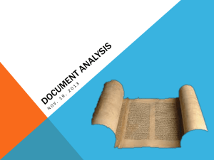 Document Analysis - History News 4Ever