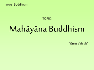 Intro to Buddhism: Mahayana