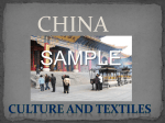 CHINA- culture and textiles