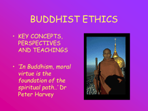 BUDDHIST ETHICS - Cirencester College
