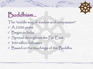 Buddhism… - Regina High School