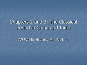 The Classical Period in China and India